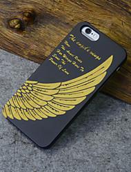 Для Кейс для iPhone 5 Рельефный Кейс для Задняя крышка Кейс для Плитка Твердый Дерево iPhone SE/5s/5