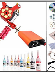 Basekey Professional Beggineer Tattoo Kit KL101A 1 Machine With Power Supply Grips 5ML Ink