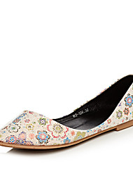 Women's Shoes Flat Heel Pointed Toe Flats Office & Career / Dress / Casual Blue / Green / White / Almond