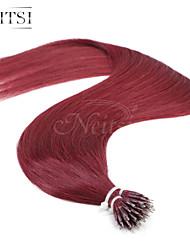 """neitsi® 20 """"1 g / s nano Ringschleife gerades Haar 100% Menschenhaarverlängerungen 530 # include Haar-Tools"""