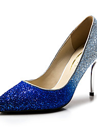Women's Shoes Synthetic / Glitter Stiletto Heel Heels / Heels Wedding / Party & Evening / Dress Blue / Silver / Gold