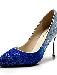 Синий / Серебристый / Золотистый - Женская обувь - Свадьба / Для праздника / Для вечеринки / ужина - Синтетика / Лак - На шпильке -На