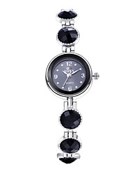 Women's Dress Watch Fashion Watch Bracelet Watch Quartz / Alloy Band Vintage Casual Elegant Black Brand
