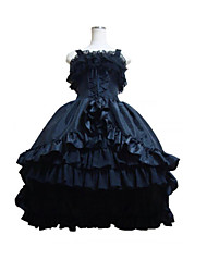 Top Sale Royal  Black Gothic Lolita Dress Party Tails Cosplay  Costumes