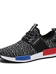 Men's Shoes Outdoor / Office & Career / Athletic / Casual Fabric Fashion Sneakers Black / Blue / White