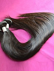 unprocessed 8a brazilian virgin hair straight mixed 3pcs lot natural color for one hair straight human hair weaves