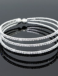 Fashion Crystal Diamond Bracelet Open Bangle for Party Women Jewelry