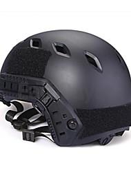 черный пластик тактический военный пейнтбола Airsoft быстрый шлем