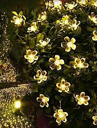 7M 50LED  Solar Fancy Flower String Lights Waterproof Christmas Lights