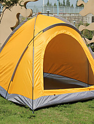 LANGYA Waterproof / Breathability Oxford / Polyester One Room Tent Yellow / Blue