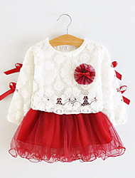 Girl's Red Flower Tulle Party Pagant Spring and Summer Cute Kids Clothing Dresses