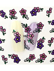 Autocolantes de Unhas 3D-Desenho Animado / Flôr / Adorável- paraDedo- deOutro- com10pcs-6.5*5.2