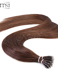 "Neitsi® 20"" 1g/s Nano Ring Loop Straight Hair 100% Human Hair Extensions 4# Include Hair Tools"