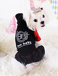 Dog Coat / Clothes/Jumpsuit Red / Black Dog Clothes Winter Fashion