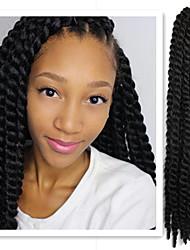 Eunice cabelo 1pack / lot 12-24 '' tranças kanekalon cabelo sintético havana torção do crochet 100%