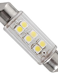 LED Car Interior light 12V White 6 SMD LEDs car Dome Festoon Bulb Lamp 39mm  (2 Pcs)