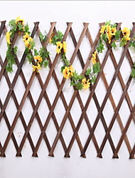 Carbonization Anticorrosive Retractable Bamboo Fence Wall Decoration Pergola 98cm High