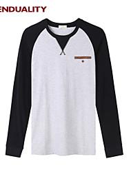 Trenduality® Herren Rundhalsausschnitt Lange Ärmel T-Shirt Schwarz / Dunkelblau / Hellblau - 53006