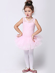 Girl's Pink Dress , Lace Cotton / Spandex All Seasons
