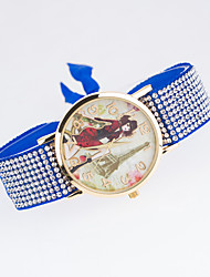 European Style New Fashion Trend Rhinestone Casual Colorful Tower Beauty Bracelet Watch