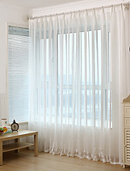Jacquard Stripe Sheer Curtain (Two Panel)