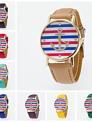 2016 New Arrival Fashionable Leisure Wristwatch For Men And Women Unisex Special Design of Boat Anchor On Dial Cool Watches Unique Watches