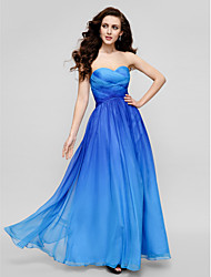 TS Couture® Formal Evening Dress - Color Gradient Plus Size / Petite Sheath / Column Strapless Floor-length Chiffon with Criss Cross