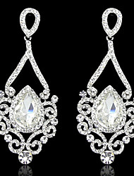 Women's Elegant AAA Zircon Crystal Drop Earrings for Wedding PartyImitation Diamond Birthstone