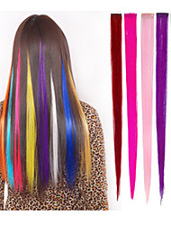 Clip In/On Hair Extension Natural Straight Many Colours For Your Choice