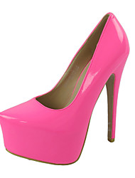 Women's Shoes Leatherette Stiletto Heel Heels / Platform Heels Wedding / Party & Evening / Dress Yellow / Red /