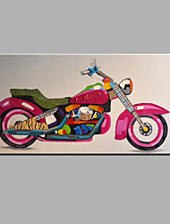 Oil Painting Modern Abstract  Pure Hand Draw Ready To Hang Decorative The Motorcycle Oil Painting
