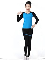 Women Sexy Fashion Sports Casual Running Suit Yoga Sets Gym Suits (Suits =Long Sleeve Top + Leggings)