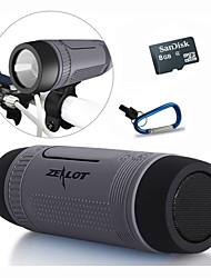 Bluetooth haut-parleur / portable power bank / led / réponse appelant / tf stéréo 5 en 1 + support + sport crochet + 8gb carte tf