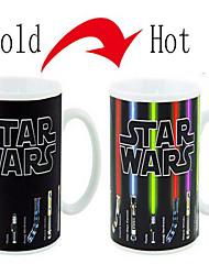 star wars thermo changer tasse changement de couleur 300ml tasse de café cadeau d'anniversaire sensible à la température