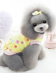 Dog Coat / Hoodie Yellow / White Dog Clothes Winter Fashion
