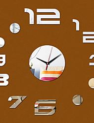 New Acrylic DIY 3D Mirror Home Decor Number Clock Mirror Surface Sticker