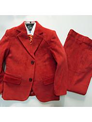 Vestido de Padrino-Rojo / Plata Poliéster/Algodón-3