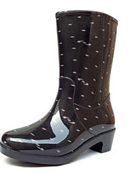 Women's Shoes  High boots Waterproof Shoes  Rubber Shoes Rain Boots (Including Cotton Padded Covering)