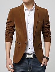 Men's Fashion High Quality One-Buckle Gold Velvet Slim Fit Suit