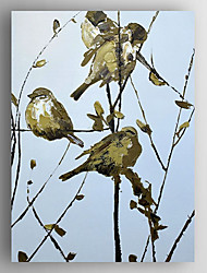 Oil Painting Birds in the Tree by Knife Hand Painted Canvas with Stretched Framed Ready to Hang