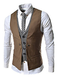 Vests Cotton Black / Gray / Brown / White / Burgundy / Navy