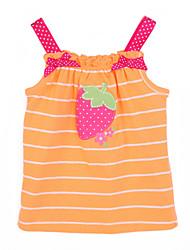 Robe Fille de Eté Coton Orange