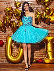 ts couture® vestido de cóctel del vestido de bola del amor de mini corto de encaje / con apliques de lentejuelas /