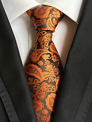 Cravate (Orange , Polyester) Motif