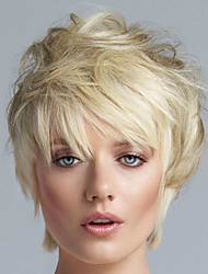Charming Short hair Synthetic Wigs For Medium Blonde Wig Kanekalon African American women Wigs