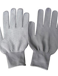 Spot Plastic  Non-Slip Cotton Gardening Gloves  (2/set)