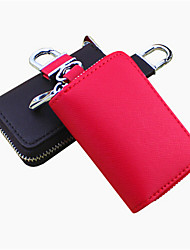 Both Men And Women Can Stick Cross Embossed Leather Car Key Bag / Car Remote Package