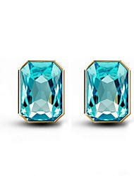 Crystal Zircon Earrings Stud Earrings For Women Square Earrings Fashion Jewelry Accessories
