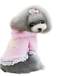 Cães Casacos Rosa / Púrpura Roupas para Cães Inverno Da Moda
