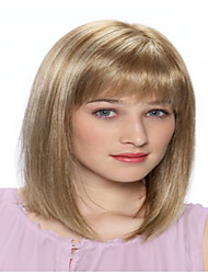 Fashion European Women Lady Middle Straight Wig Synthetic Hair